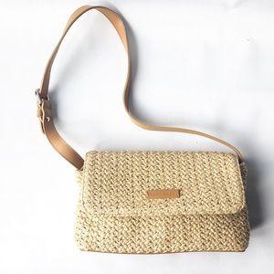 Nine West Raffia crossbody purse